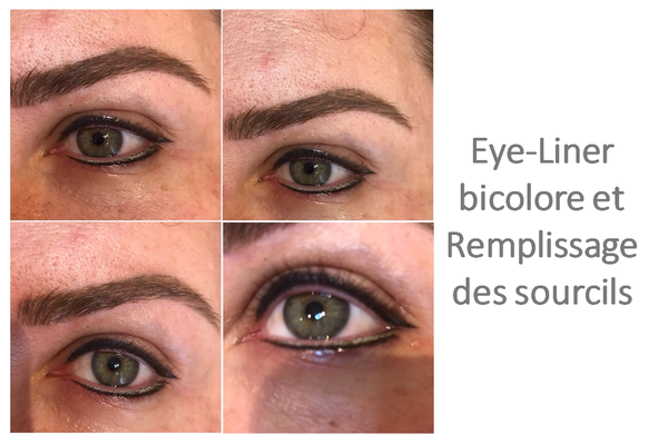 Maquillage Permanent Eye-liner bicolore et remplissage sourcils BIOTIC Phocea