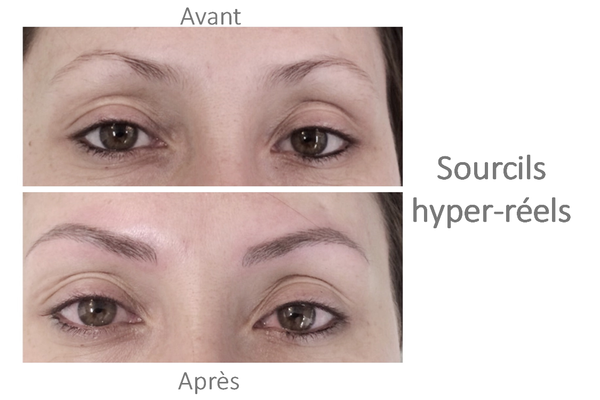 maquillage permanent sourcils hyper réels BIOTIC Phocea